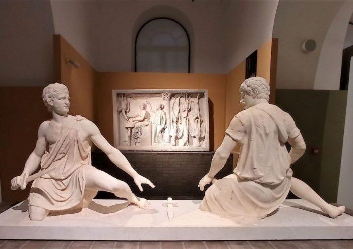 Statue di guerrieri Mostra I Marmi Torlonia Roma